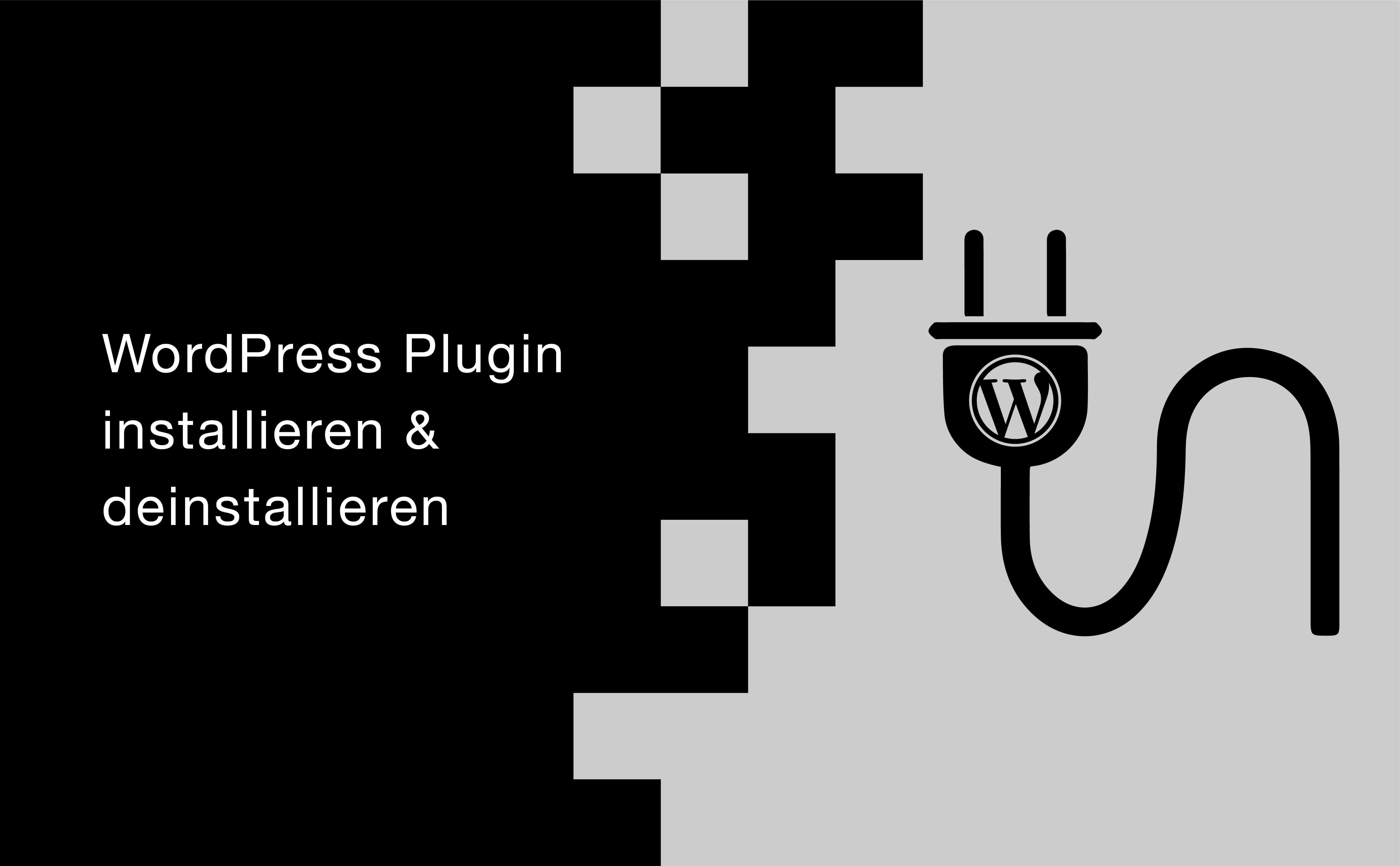 WordPress Plugin installieren & deinstallieren